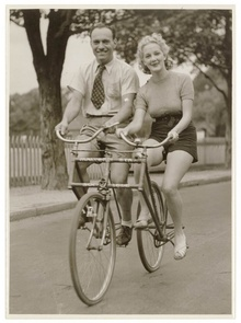 The Malvern Star sociable bicycle.