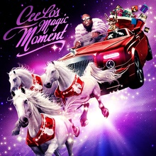 The completely absurd cover of Cee Lo's Christmas album features a Rolls Royce drophead.