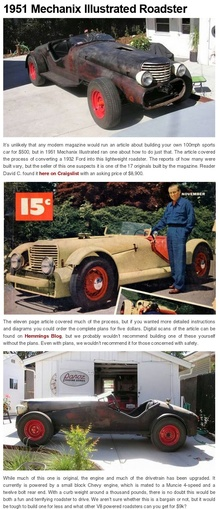 """It's unlikely that any modern magazine would run an article about building your own 100mph ..."