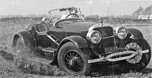 Mercer Raceabout tearing up the dirt in this epic vintage photo.