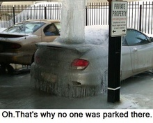 Oh. That's why no one was parked there.