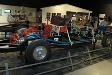 Tucker Factory Test Chassis alongside a Cadillac chassis of similar vintage. Allows visitors to compare ...