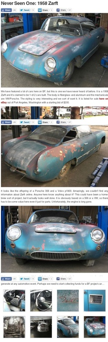 Ever heard of a 1958 Zarft?? For sale on http://cgi.ebay.com/ebaymotors/1958-Zarft-1-of-2-produced-based-off-356-porsche-and-early-50s-corvette-/251286311648?ViewItem=&item=251286311648&forcev4exp=true