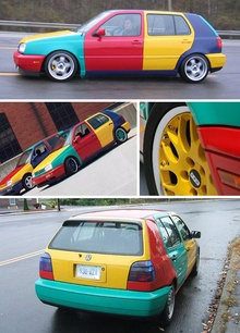 Any color you like, as long as it's 4 colors… on each car. That's what ...