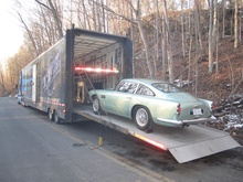 1961 Aston Martin leaves the building!
