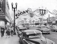 Christmas shopping in Compton 1954.