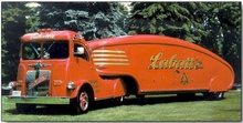 Dig this deco streamlined delivery truck.