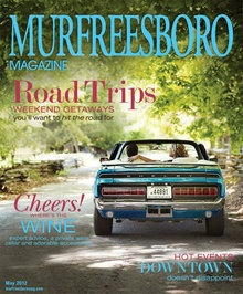 Murfreesboro magazine cover with 1968 Shelby Mustang.