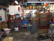 I love a nice, organized garage that looks like it actually gets used for projects.