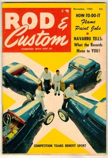 Neat cover to the November 1954 issue of Rod & Custom. More here... Rod & ...