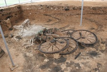 Bulgaria's newest archaeological complex consisting of a tomb of an Ancient Thrace aristocrat and displaying ...