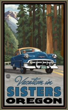 """Vacation in Sisters Oregon"" art available for purchase."