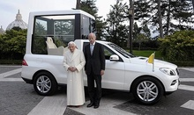 This Popemobile was rolled out about three seconds before Pope Benedict XVI announced his retirement ...