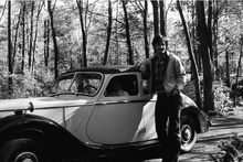 Here I am with our family's 1950 2-1/2 litre Riley around 1978. Freshly repainted in ...