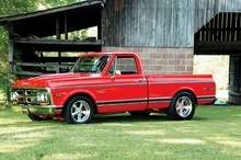 This 1972 GMC Sierra pickup has been beautifully and tastefully restored. Well done.
