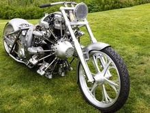 Jesse James builds a radial-engine chopper. Another take on the theme.