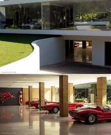 I love the entrance to this underground garage, and check out what's inside!